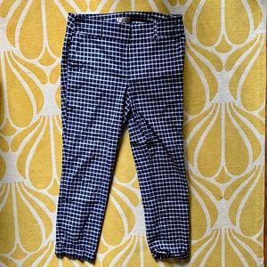 Loft modern skinny ankle pants checked plaid